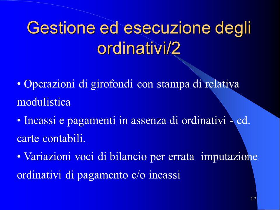 Gestione ed esecuzione degli ordinativi/2