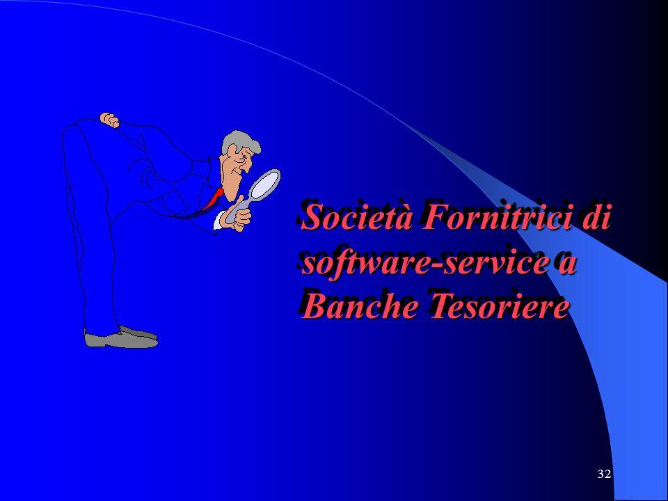 Società Fornitrici di software-service a Banche Tesoriere