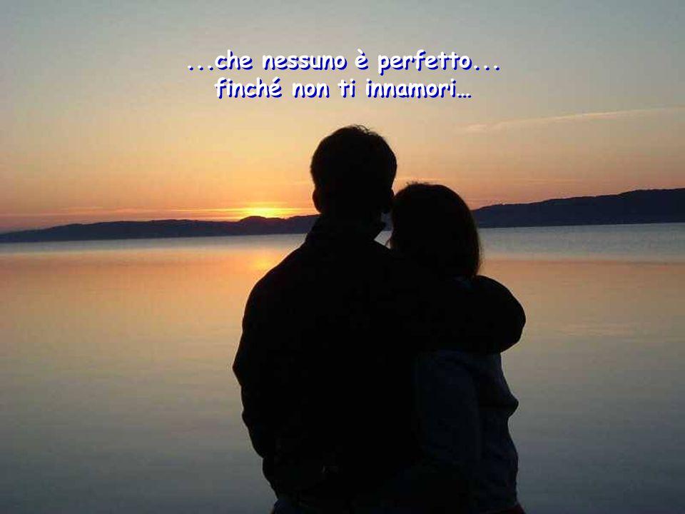 ...che nessuno è perfetto... finché non ti innamori…