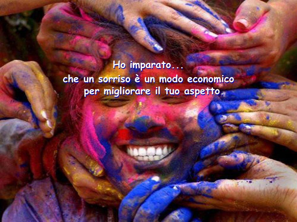 che un sorriso è un modo economico per migliorare il tuo aspetto.