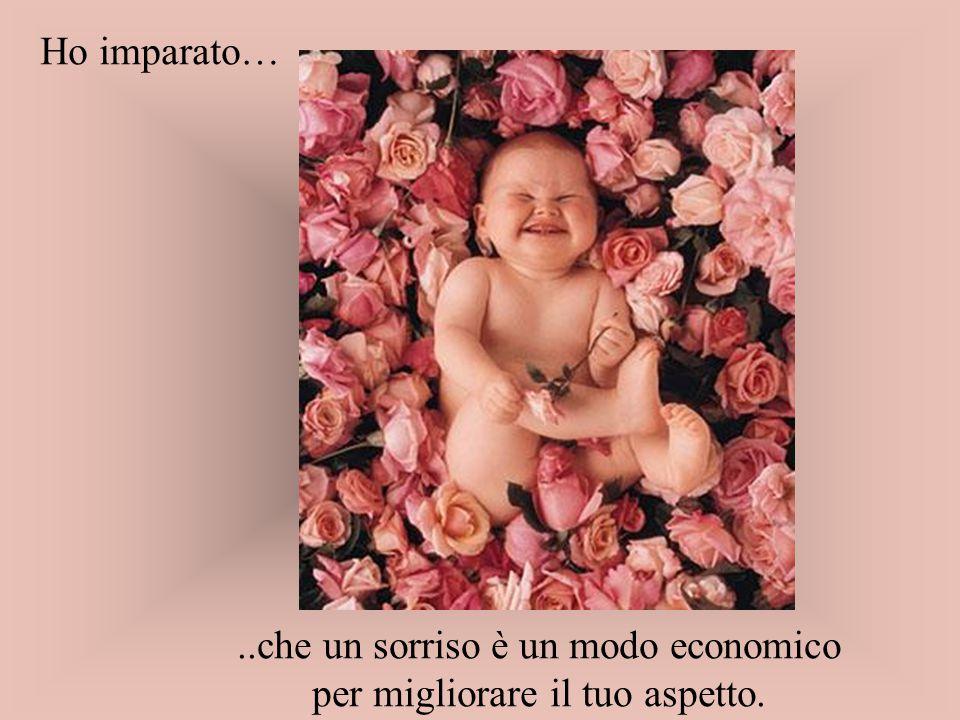 ..che un sorriso è un modo economico per migliorare il tuo aspetto.