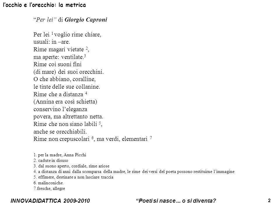 Amato Unità sulla poesia - Scuola Superiore - Classe II - ppt video  RV64