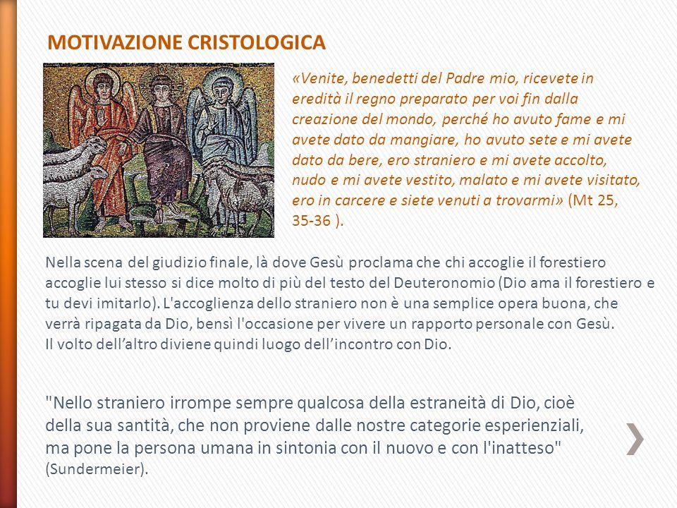 MOTIVAZIONE CRISTOLOGICA