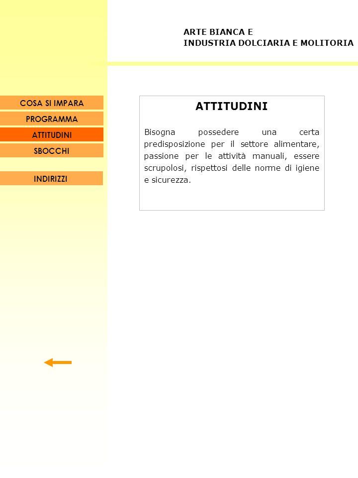 ATTITUDINI ARTE BIANCA E INDUSTRIA DOLCIARIA E MOLITORIA