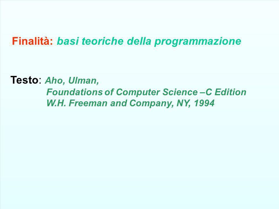 Finalità: basi teoriche della programmazione
