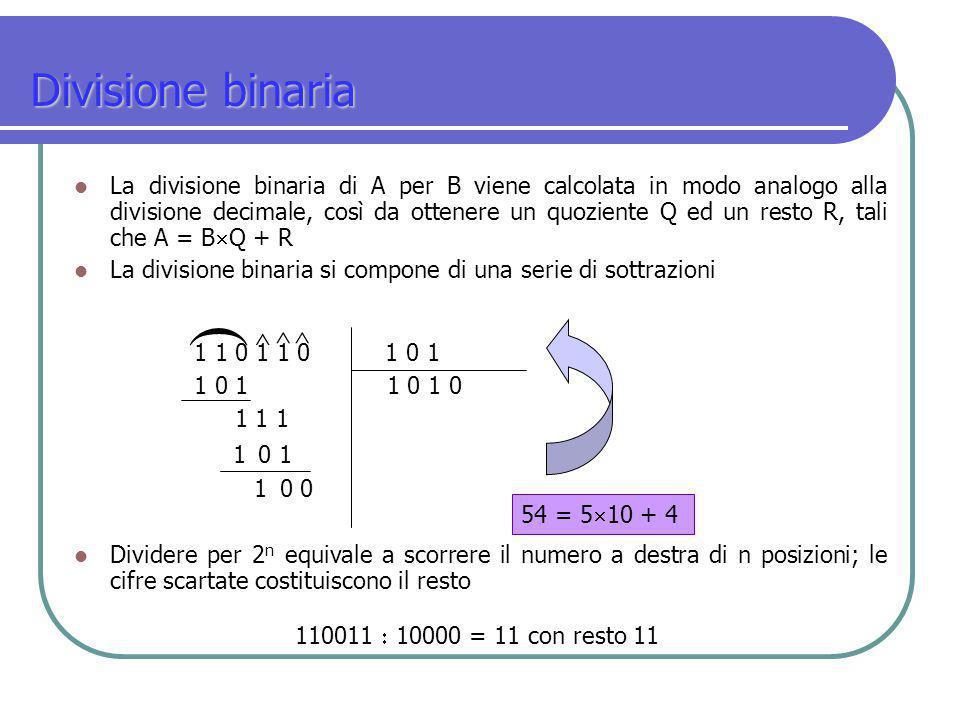 ( Divisione binaria ^ ^ ^
