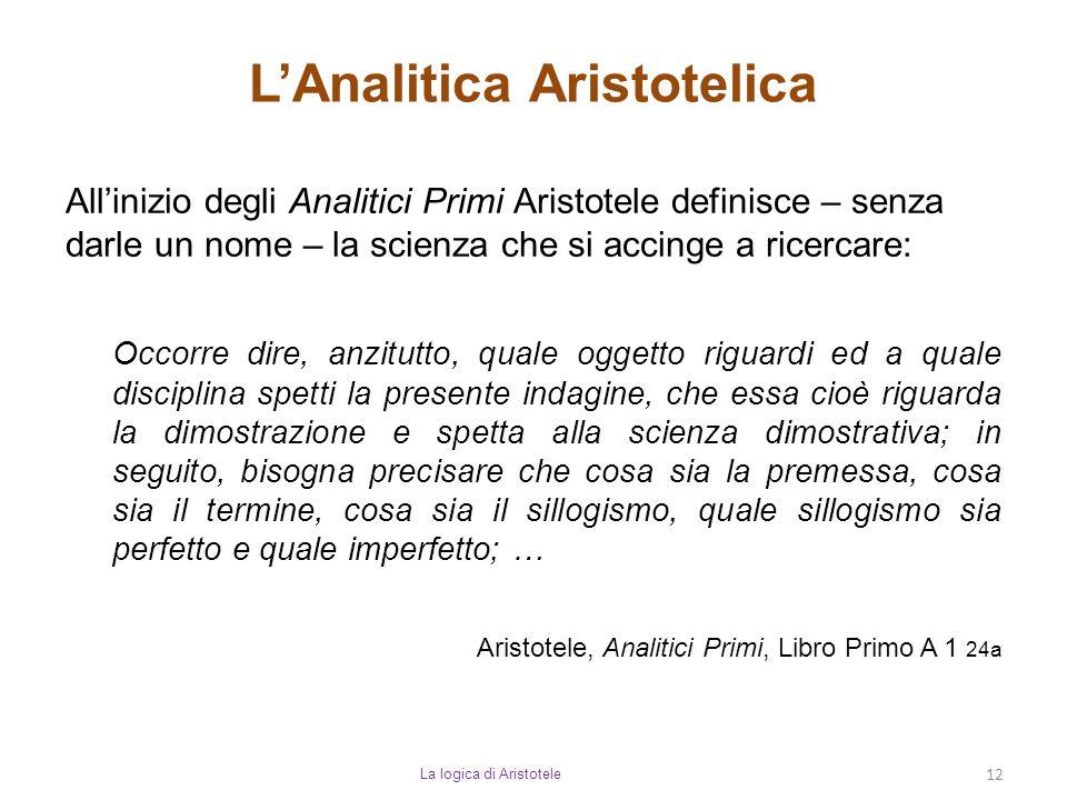 L'Analitica Aristotelica