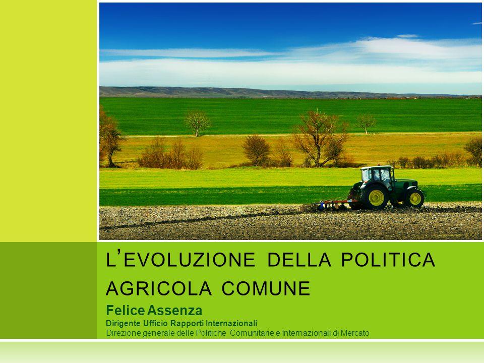 l'evoluzione della politica agricola comune