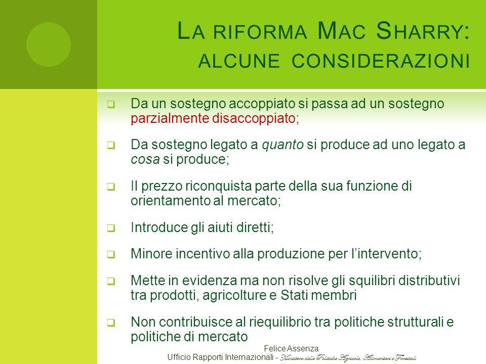 La riforma Mac Sharry: alcune considerazioni