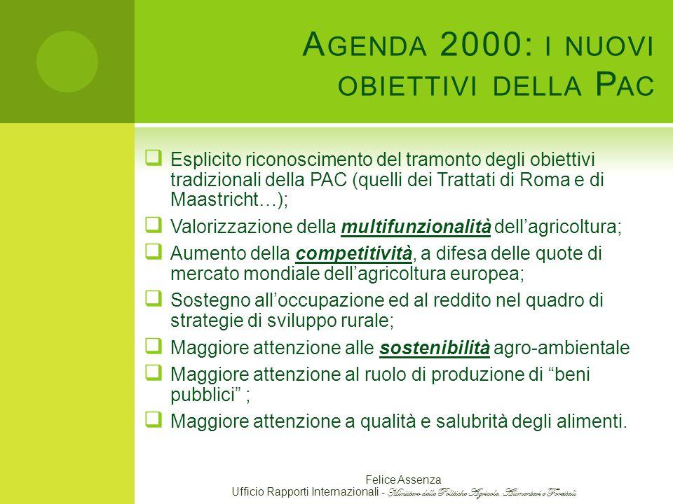 Agenda 2000: i nuovi obiettivi della Pac