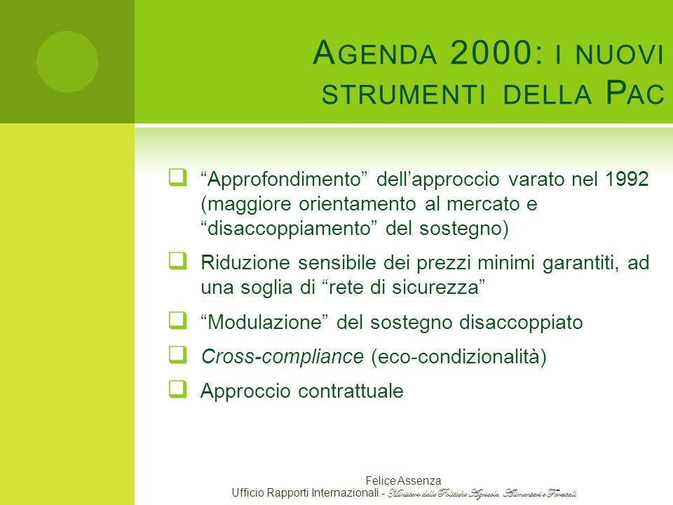 Agenda 2000: i nuovi strumenti della Pac