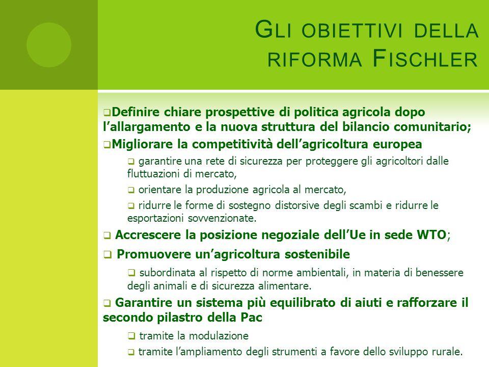 Gli obiettivi della riforma Fischler