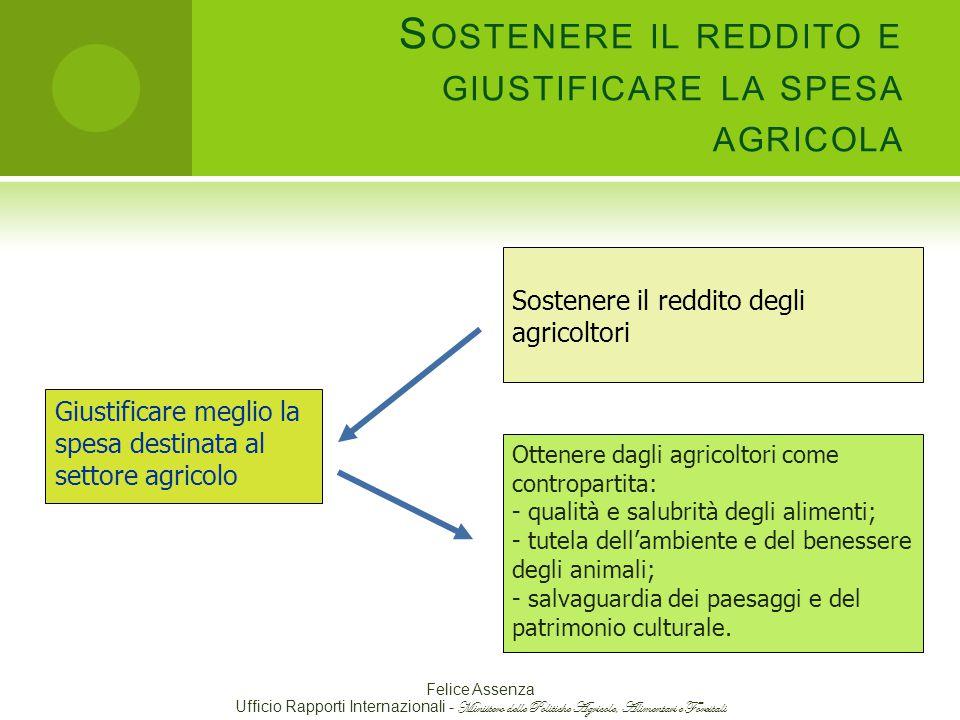 Sostenere il reddito e giustificare la spesa agricola