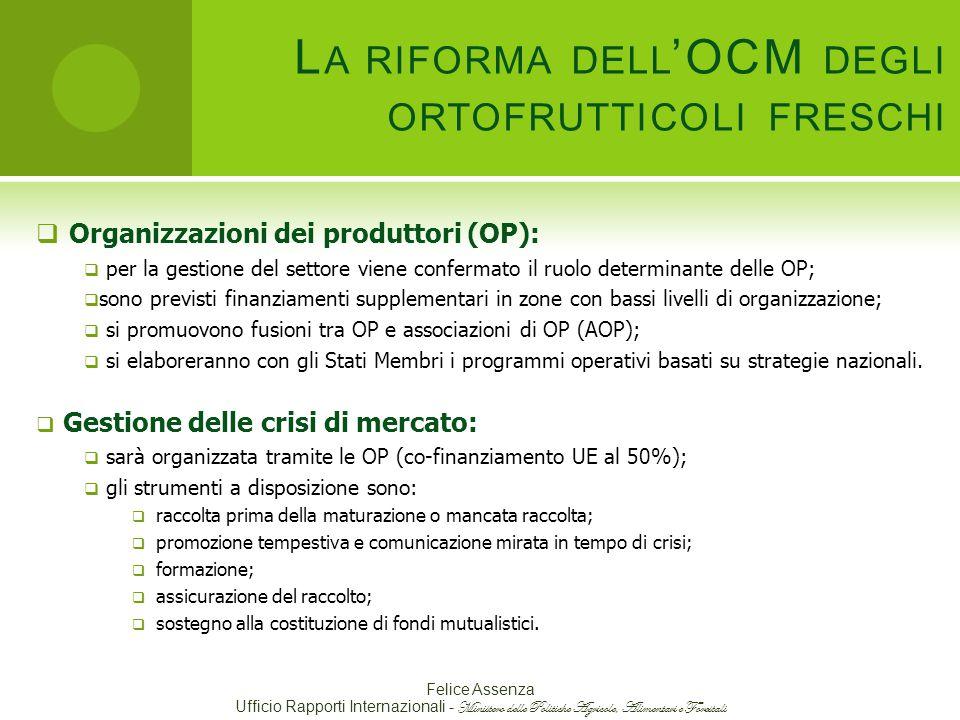 La riforma dell'OCM degli ortofrutticoli freschi