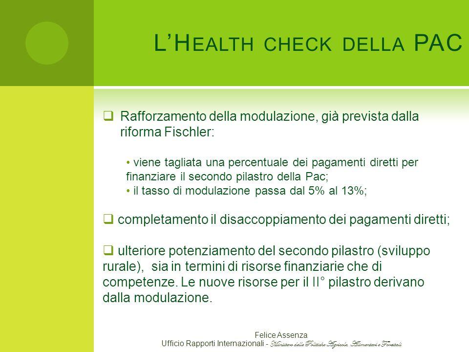 L'Health check della PAC
