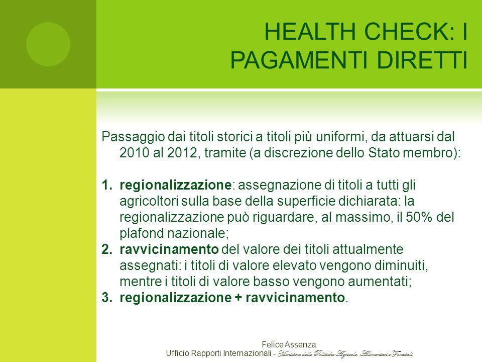 HEALTH CHECK: I PAGAMENTI DIRETTI