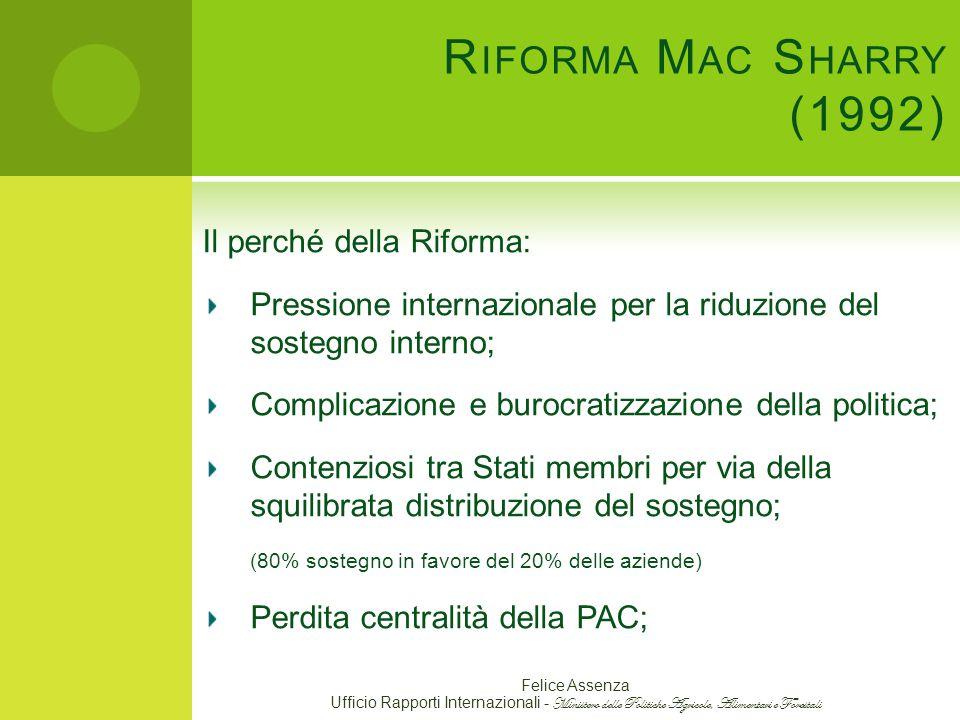 Riforma Mac Sharry (1992) Il perché della Riforma: