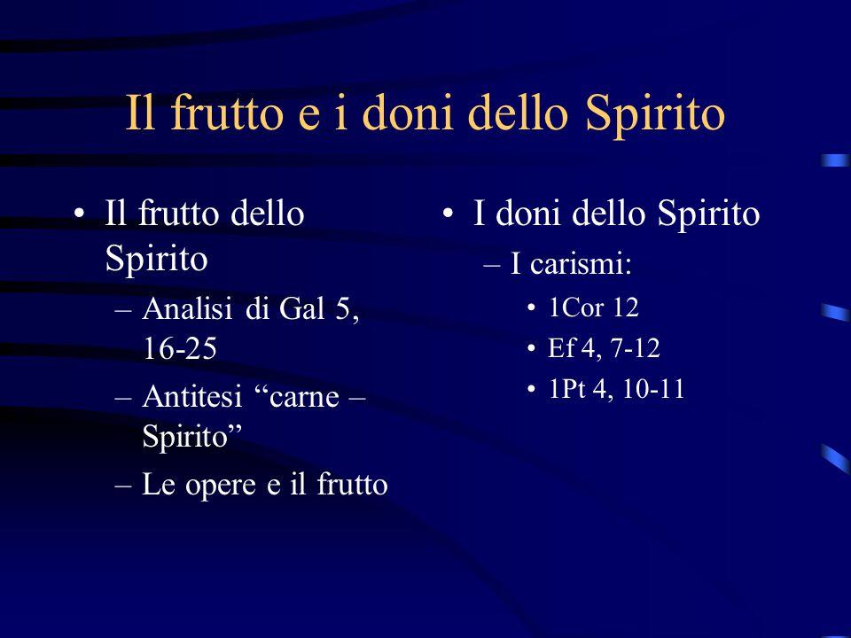 Il frutto e i doni dello Spirito