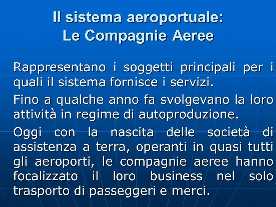 Il sistema aeroportuale: Le Compagnie Aeree