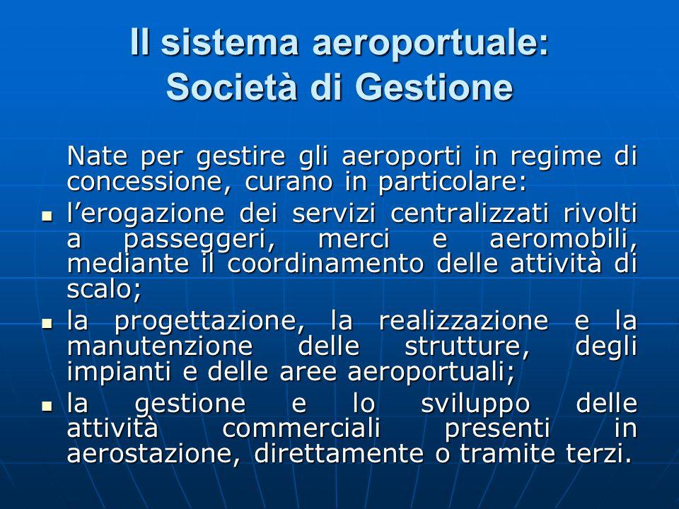 Il sistema aeroportuale: Società di Gestione