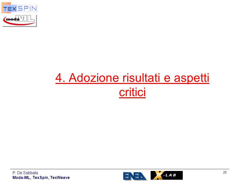 4. Adozione risultati e aspetti critici