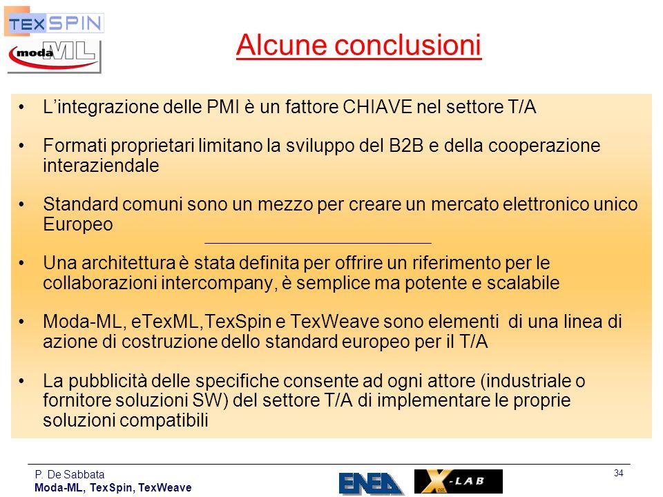 Alcune conclusioni L'integrazione delle PMI è un fattore CHIAVE nel settore T/A.