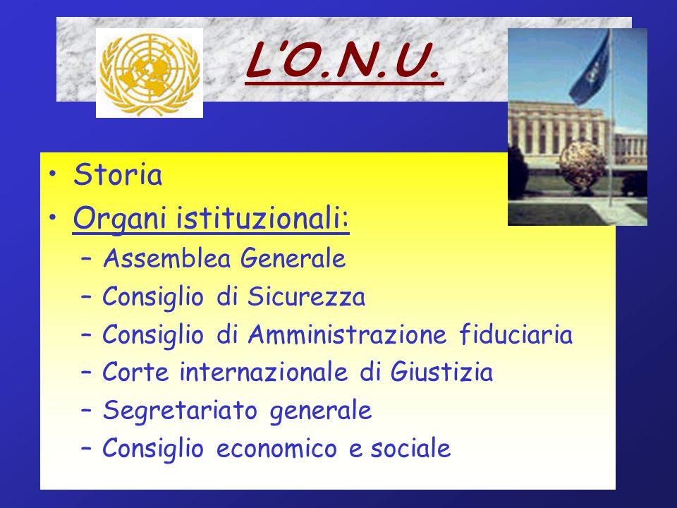 L'O.N.U. Storia Organi istituzionali: Assemblea Generale