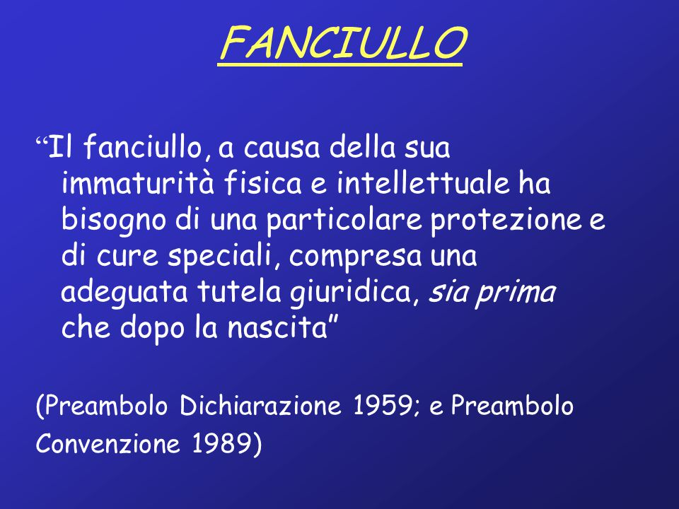 FANCIULLO