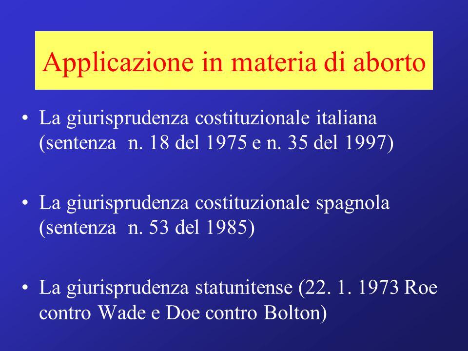 Applicazione in materia di aborto