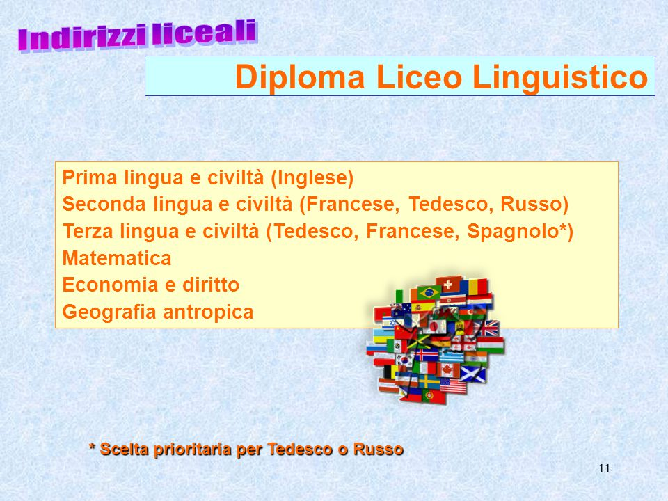 Diploma Liceo Linguistico