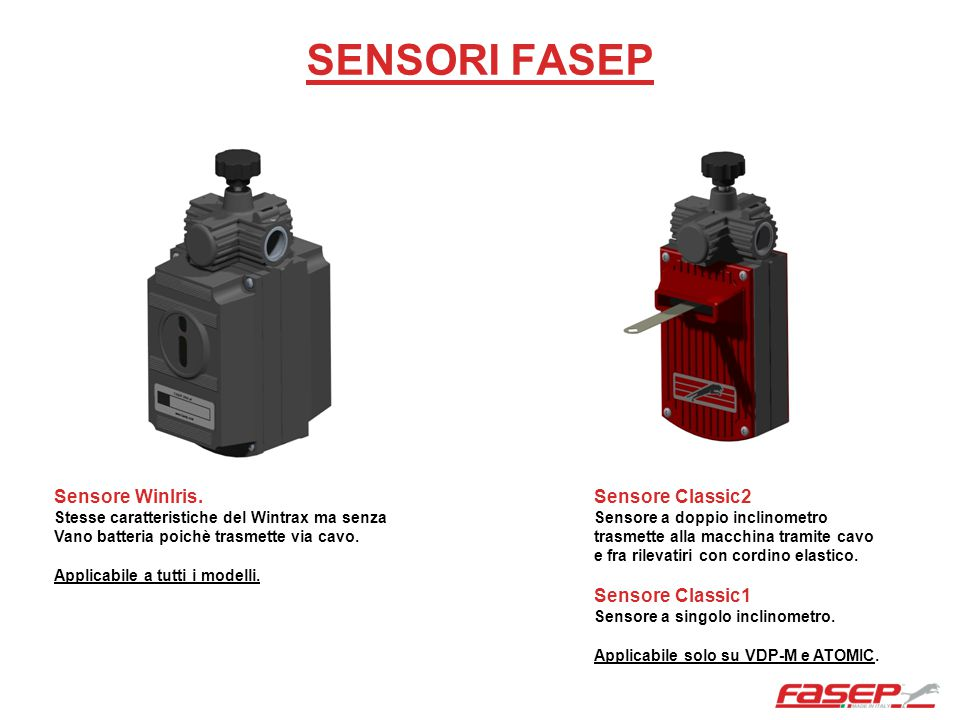 SENSORI FASEP Sensore WinIris. Sensore Classic2 Sensore Classic1