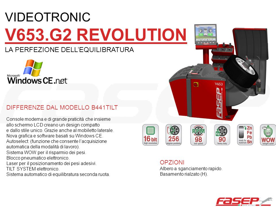 VIDEOTRONIC V653.G2 REVOLUTION LA PERFEZIONE DELL'EQUILIBRATURA