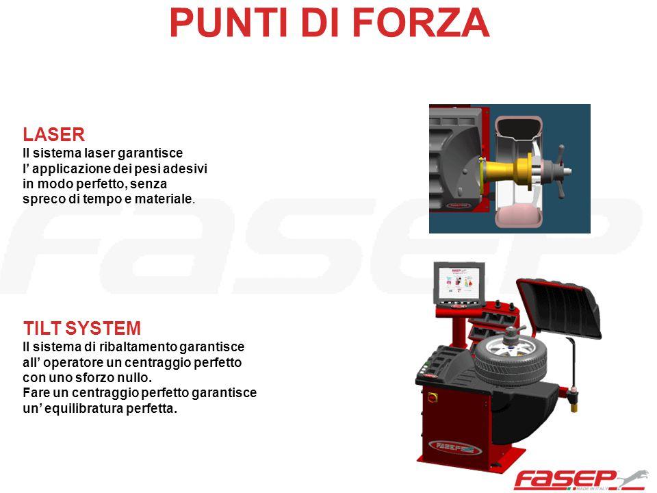 PUNTI DI FORZA LASER TILT SYSTEM Il sistema laser garantisce