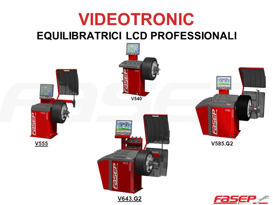 VIDEOTRONIC EQUILIBRATRICI LCD PROFESSIONALI