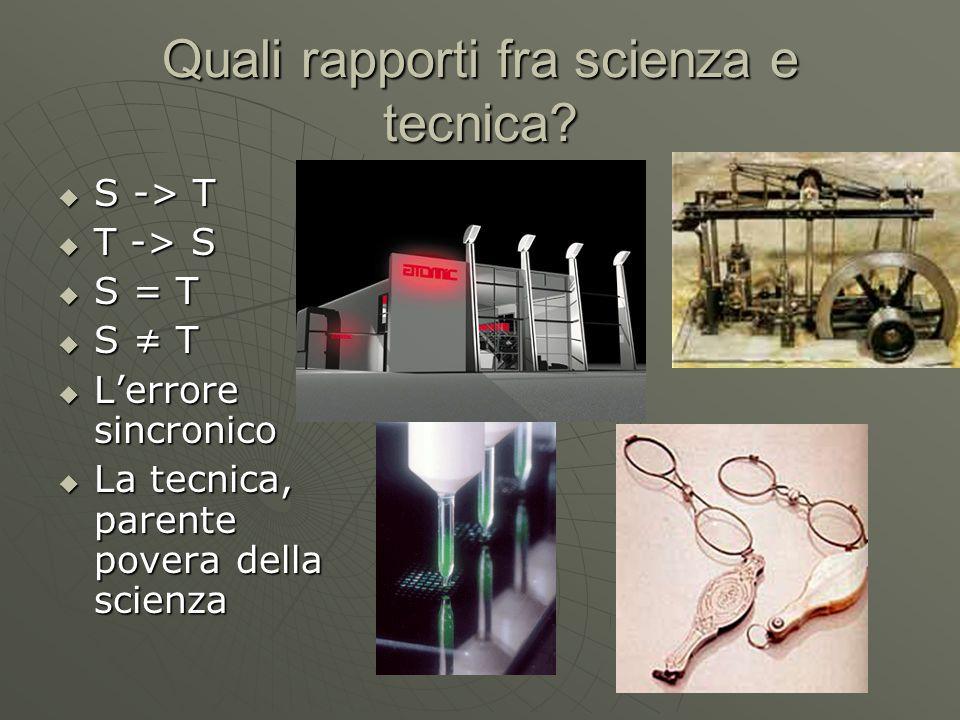 Quali rapporti fra scienza e tecnica