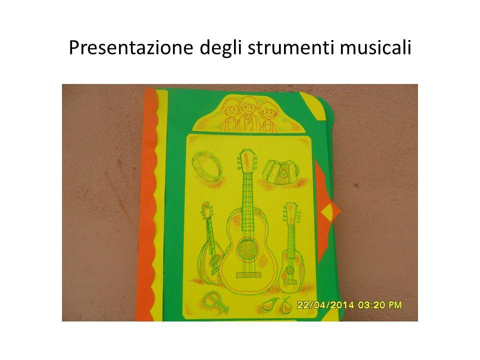 Presentazione degli strumenti musicali