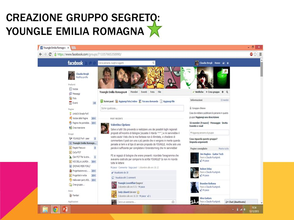 CREAZIONE GRUPPO SEGRETO: YOUNGLE EMILIA ROMAGNA