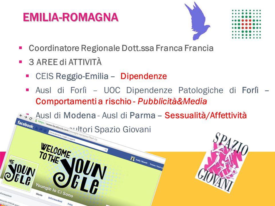 EMILIA-ROMAGNA Coordinatore Regionale Dott.ssa Franca Francia
