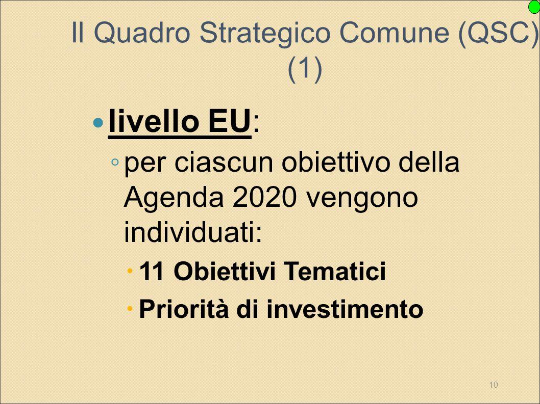 Il Quadro Strategico Comune (QSC) (1)