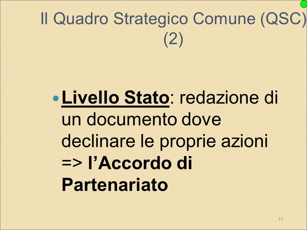 Il Quadro Strategico Comune (QSC) (2)