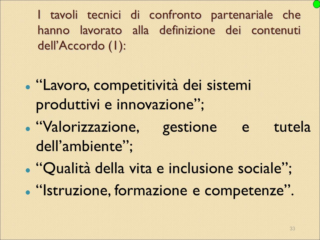 Lavoro, competitività dei sistemi produttivi e innovazione ;