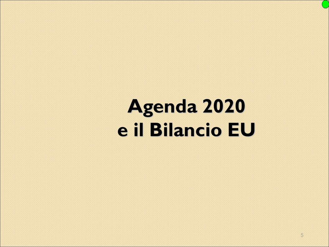 Agenda 2020 e il Bilancio EU