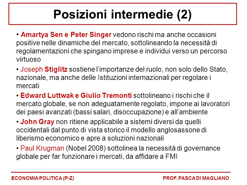 Posizioni intermedie (2)