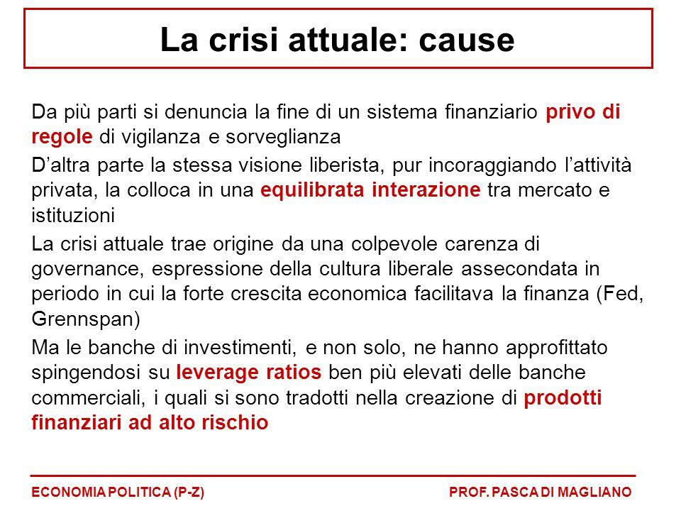 La crisi attuale: cause
