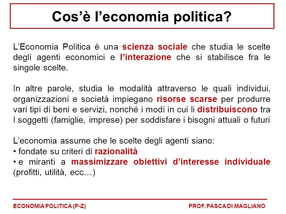 Cos'è l'economia politica