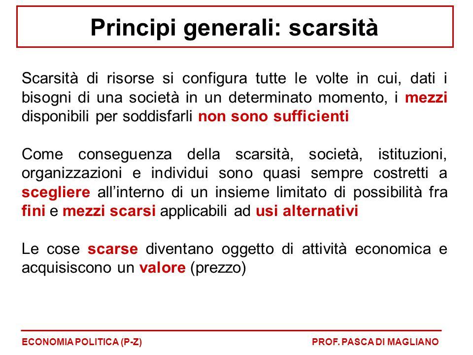 Principi generali: scarsità