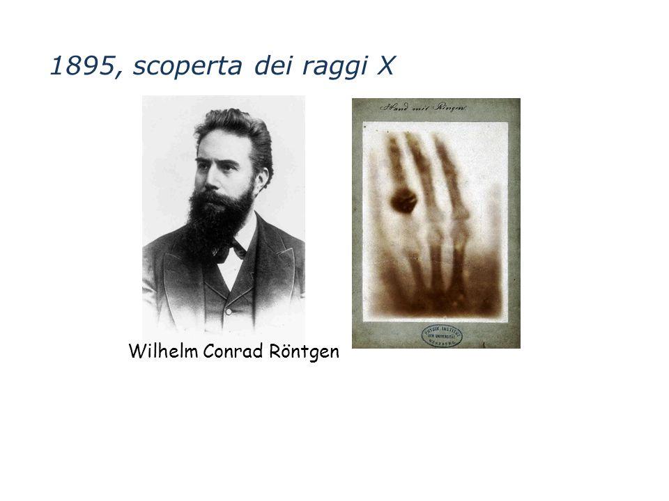 1895, scoperta dei raggi X Wilhelm Conrad Röntgen