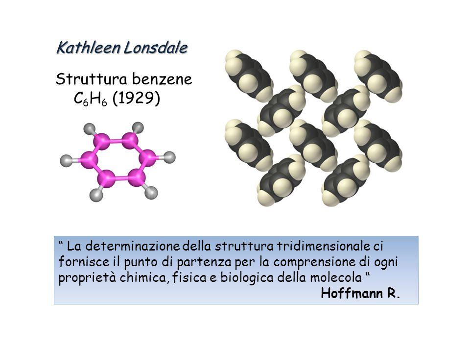 Kathleen Lonsdale Struttura benzene C6H6 (1929)