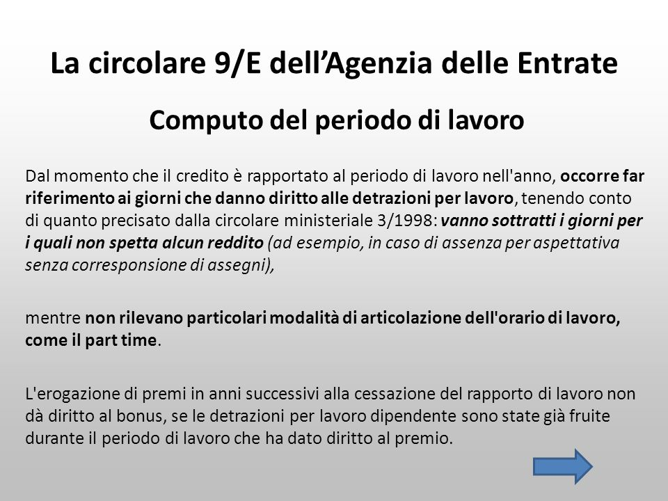 La circolare 9/E dell'Agenzia delle Entrate