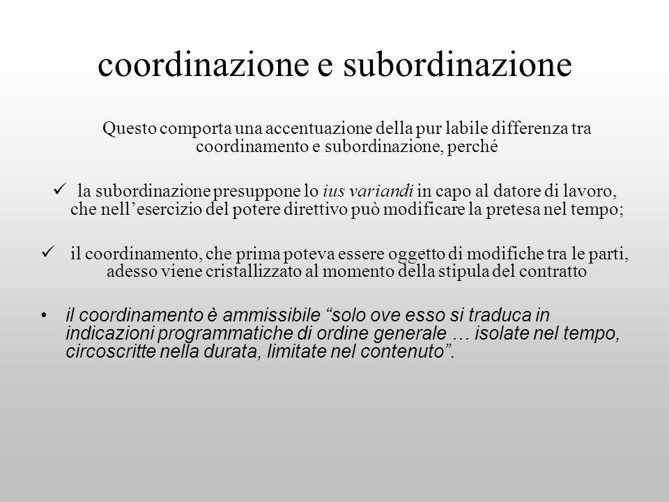 coordinazione e subordinazione